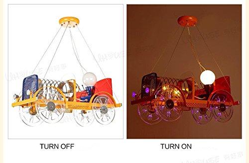 Kreative Cartoon Auto LED-Kronleuchter Bekleidungsgeschäft Leuchten schönes Baby-Schlafzimmer der raum des jungen Mädchens - 3