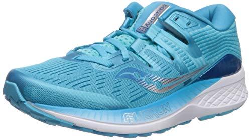 Saucony Ride ISO Neutralschuh Damen-Blau, Hellblau, Zapatillas de Running Calzado Neutro para Mujer...