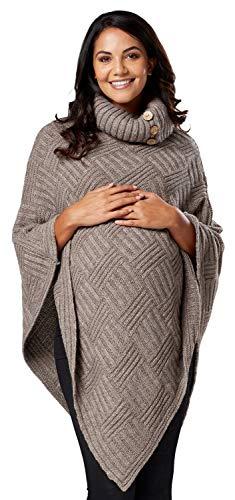 Chelsea clark donne maternità maglia maglieria tessuto mantellina dolcevita 911p (mocca, one size it 40/42/44, one size)