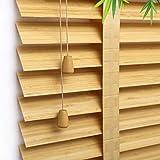 AA-Curtain CULI Tapparelle Rollos Tapparelle per Tende da 40 cm / 60 cm / 80 cm / 100 cm / 120 cm, Protezione Solare in bambù per Cucina Domestica, Colore Legno