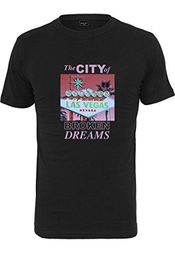 Mister Tee Herren Broken Dreams Tee T-Shirt, Black, M -