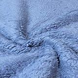 Teddy-Plüsch 0,5m Jeansblau 80% BW 20% PE Meterware