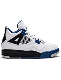 NIKE NIKE Jordan 4 RETRO BP Boys Fashion-sneakers 308499-117_1Y - White/Game Royal-black