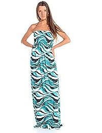 Fast Fashion - Maxi Robe Plus Taille Tie Dye Rayure De Léopard Floral Imprimé - Femme