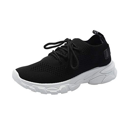 SSUPLYMY Damen Mesh Sneaker Beiläufige Atmungsaktive Sportschuhe zum Schnüren Laufschuhe Air Turnschuhe Running Fitness Sneaker Outdoors Straßenlaufschuhe Sports - Viele Farben - Handgemachte Booties