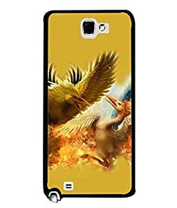PrintVisa Animated Eagles High Gloss Designer Back Case Cover for Samsung Galaxy Note 2 :: Samsung Galaxy Note Ii N7100