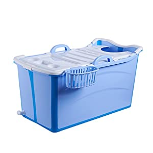 XUANLAN Thick Extra Large Plastic Adult Bathtub, Household Children's Bathtub, Portable Folding Bath Barrel L90 * W42 * H50CM ( Color : A )
