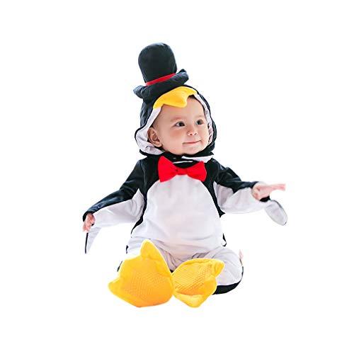 Pinguin Kostüm Kleinkind,Unisex Tiere Strampler Baby Spielanzug Faschingskostüme Cosplay