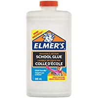 Elmer's - Pegamento líquido uso escolar Elmer, blanco, lavable, 946ml; adecuado para hacer slime