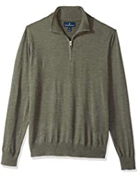 Buttoned Down Men's Italian Extra Fine Merino Quarter-zip Jumper