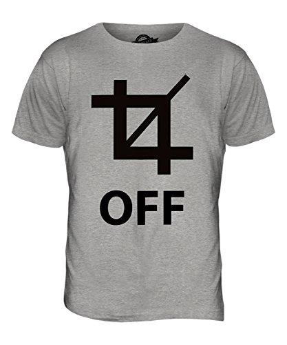 CandyMix Crop Off Herren T Shirt Grau Meliert