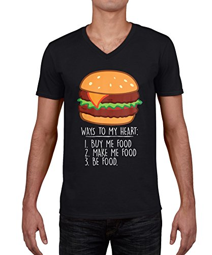 ways-to-my-heart-with-a-burger-graphic-homme-v-neck-t-shirt-xxl