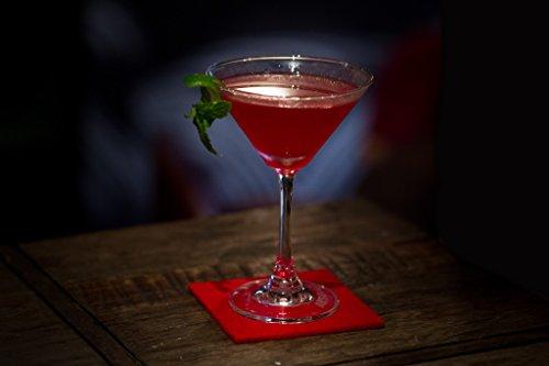 Smacc Filzuntersetzer, quadratisch 8er Set (Farbe wählbar) – Glasuntersetzer aus 100% Schafwolle, Untersetzer für Bar und Tisch Einrichtungsideen als Tischdeko (Rot)