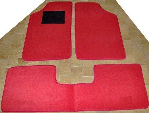Peugeot 205Alfombras para coche con trasera iPad, juego completo de alfombrillas sobre tamaño de moqueta rojo