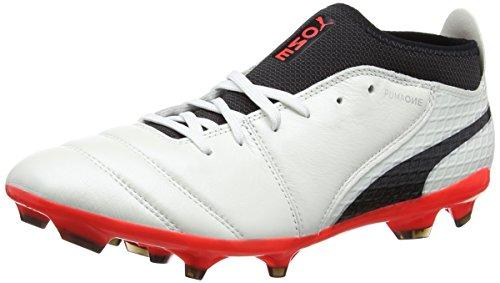 Scarpe Da Calcio Puma Men One 17.2 Fg Bianche (corallo Bianco-nero-fuoco)