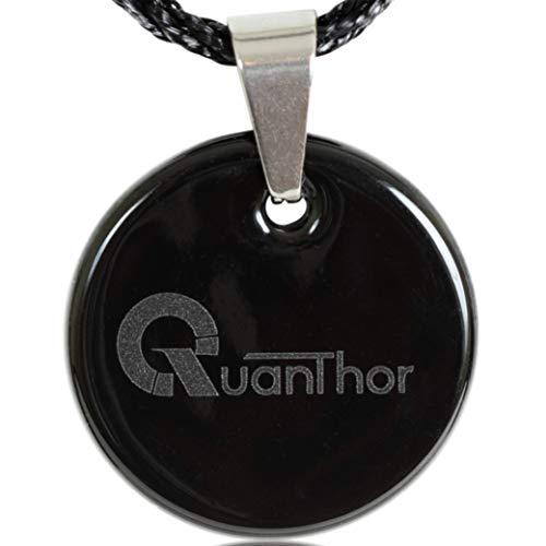 Collar de cristal de turmalina negro para la protección de emf con piedra volcánica de lava negra | Protección contra la radiación infrarroja lejana