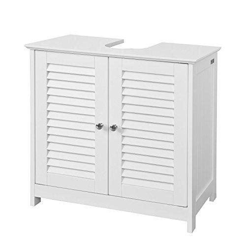 SoBuy FRG237-W Waschbeckenunterschrank Badschrank Unterschrank in weiß BHT ca: 60x58x34cm