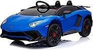 Dorsa Lamborghini Aventador SV Ride On Sport Car, Blue, 0913-BLUE-D