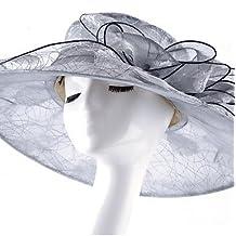5cb8ea561cb2f MGS-Sombreros   Mujer Primavera Otoño Verano Sombrero Flor Malla de Tul  Sombrero Playero