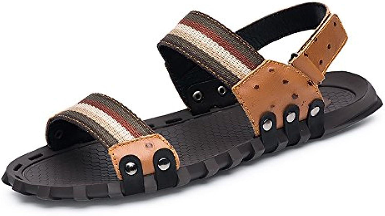 Juan-shoes, Zapatos para hombre, Zapatillas de playa de cuero de vaca genuino clásico de los hombres zapatillas...