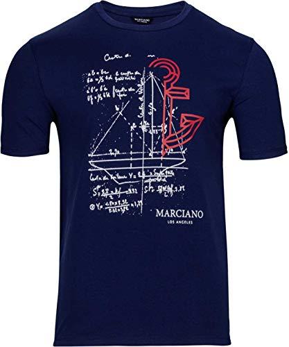 T FoncéTailleM Shirt MotifCouleurBleu Marciano Guess À By htrdxsQC