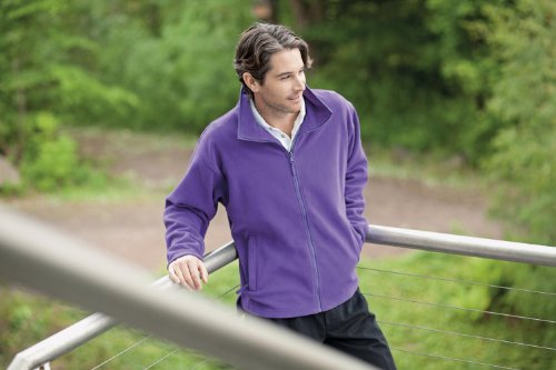 Henbury Microfleece jacket Purple