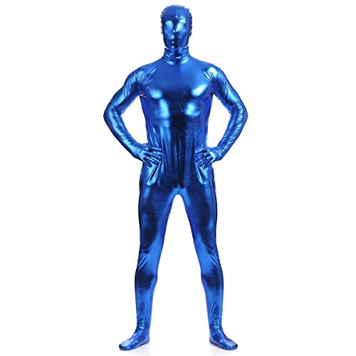 unbrand Erwachsene Frauen Kinder Ganzkörper Jumpsuit Spandex Zip Up Body Zentai Morph Unsichtbare Cosplay Mens Fancy Dress Costume (Kostüm Spiderman 2099)