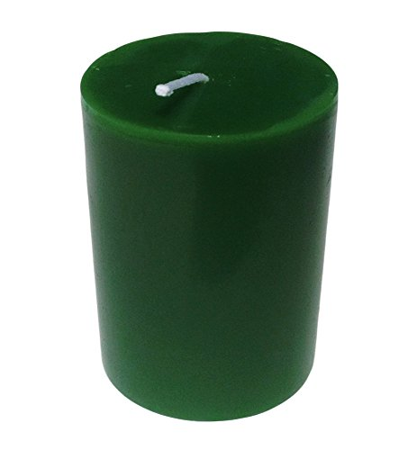 Vela en forma de columna de larga duración, para mesas de restaurantes, iglesias y bodas, de la marca Collumino, verde (Forest green), 7 x 10 cm