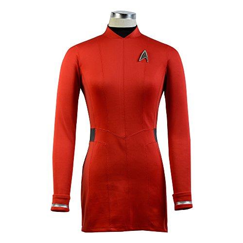 Fuman Star Trek Beyond Uhura rotes Kleid Cosplay Kostüm (Uhura Kleid)