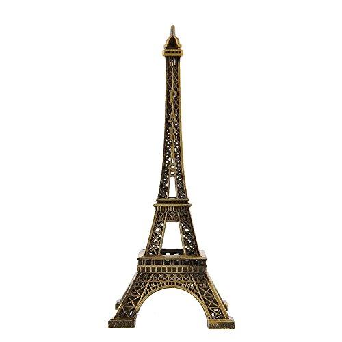 grandey Home Dekoration Paris Eiffelturm Modell Metallic Bronze Farbe Eisen Romantische Craft Kunst Statue Modell Schreibtisch Raum Dekoration Geschenk, 48cm (Metallic-breite Schreibtisch)
