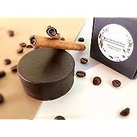 Jabón exfoliante de canela y café artesanal y ecológico