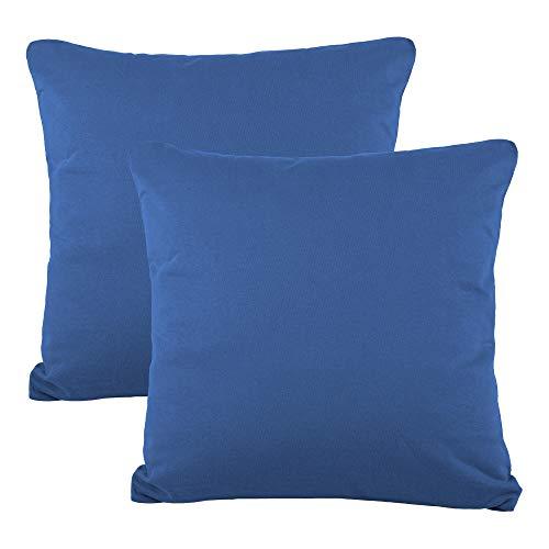 8b2c932f30 CelinaTex BeNature Kissenbezug Doppelpack 50 x 50 cm royal blau Baumwolle  Dekokissen Bezug Jersey 5001809
