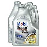 2x Motoröl Mobil Super 3000 Xe 5w-30 5l Kanister Hochwertiges Leichtlauf Motorenöl Synthtisch Benzin Und Diesel Motor Geringer Aschegehalt Synthetic Motoroil Hervorragende Fließeigenschaften