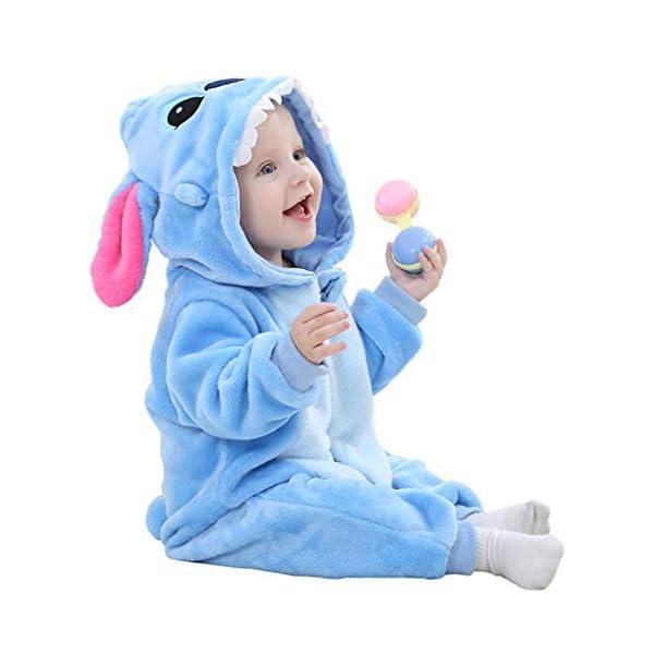 Runuo Bebé recién Nacido con Capucha Mameluco para niños pequeños Mono Infantil Trajes de Invierno Pijamas 2