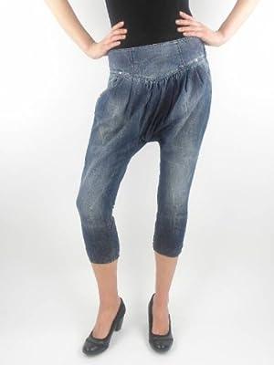 Miss Sixty Ladies Dark Blue Denim Jeans Trousers Zip New Yo