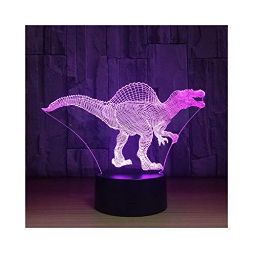 XIAOYEDENG Spinosaurus 3D beleuchtet kreative Geschenke Acryl führte Augen-Lampen-Nachtlicht-Neue exotische dekorative Lichter