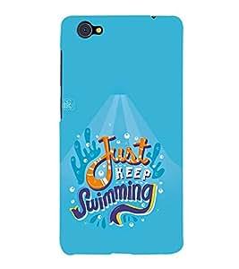 FUSON Just Keep Swimming Baby 3D Hard Polycarbonate Designer Back Case Cover for Vivo X5Pro :: VivoX5Pro