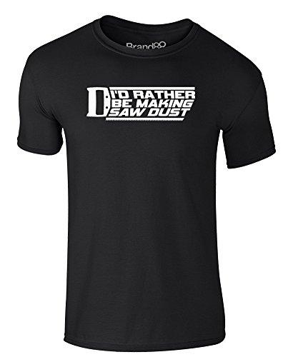 Brand88 - Making Sawdust, Erwachsene Gedrucktes T-Shirt Schwarz/Weiß