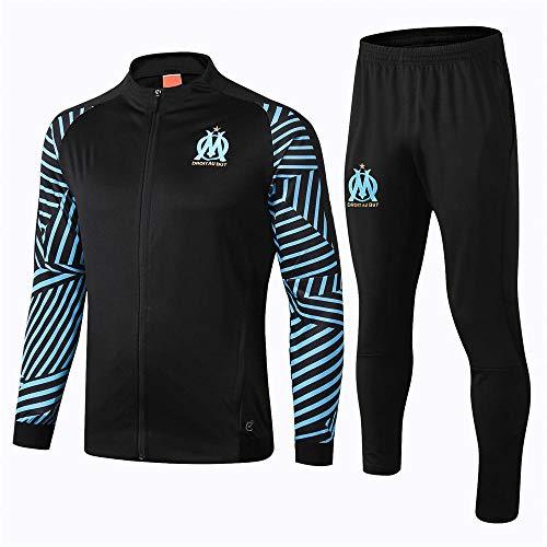 ZuanShiDaHeng Herren Football Club Warm-Up Sportswear Langer Reißverschluss Langarm Rippstrickjacke Set @ 1_M -