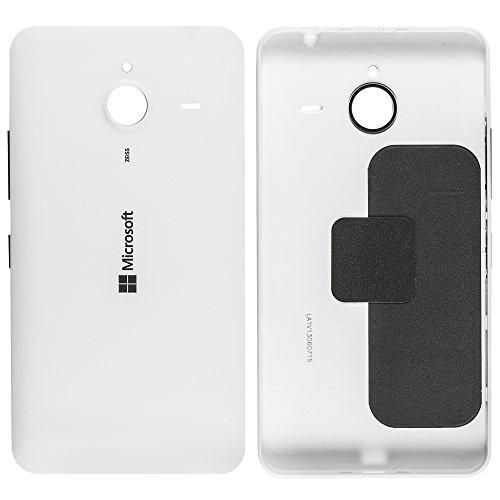 Original Microsoft Akkudeckel white / weiß für Microsoft Lumia 640 XL (Akkufachdeckel, Batterieabdeckung, Rückseite, Back-Cover) - 02510P8