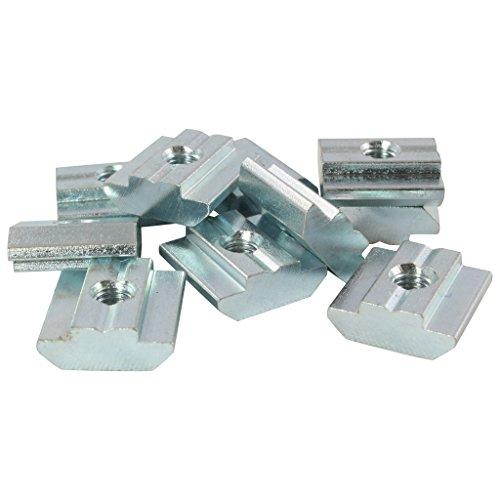 100x Nutenstein Nut 8 - Typ B - M8 mit Steg, schwer, Stahl verzinkt