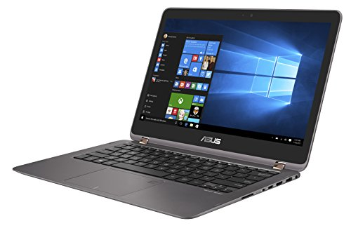 Asus Zenbook Flip UX360UAK-BB352T 33,8 cm (13,3 Zoll) Notebook (Intel Core i7-7500U, 8GB Arbeitsspeicher, 256GB SSD Festplatte, Intel HD Grafik, Win 10) grau