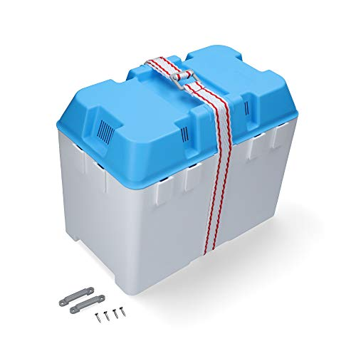 Boote & Yachten Kantschuster Batteriekasten Combi 315 x 177 x 200 mm koppelbar weiß/blau