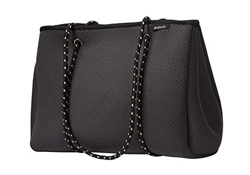PUNCH Neoprene Tote Bag Charcoal 34x26x16cm Strandtasche, 34 cm, Grau (Charcoal)