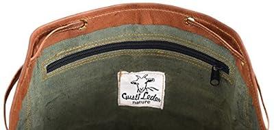 """Gusti Cuir nature """"Gary 13"""""""" sac à dos en cuir sac ordinateur portable sac porté épaule bacpack en cuir bagage à main sac de voyage en cuir homme femme cuir de chèvre marron foncé M31"""
