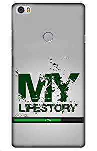 Iessential Life Story Designer Printed Back Case Cover For Xiaomi Mi Max Prime