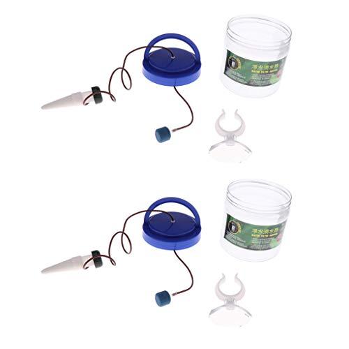 FLAMEER 2X Wasserspender für Reptilien, 1300ml