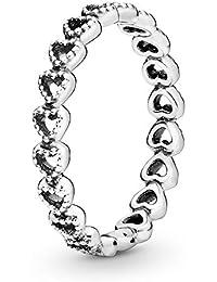 Pandora - Anillo Pandora plata corazones