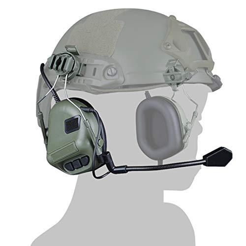 GODNECE Helm Headset Airsoft, Junior Typ Headset Taktisch Headset Militär Helm WST Gen.5 Jagd Headset Rauschunterdrückungs Headset HD-10