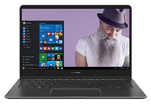 Asus Zenbook Flip S UX370 C4292T Ultrabook hybride tactile 13,3 Full HD Gris (Intel Core i5, 8 Go de RAM, SSD 256 Go, Windows 10) Clavier AZERTY français + Stylet + Mini Dock offerts + Pochette